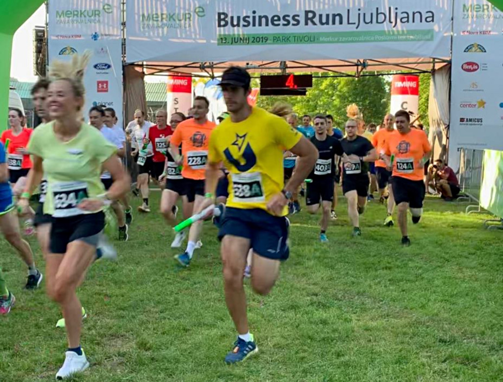 Fabio taking part in the Business Run Ljubljana