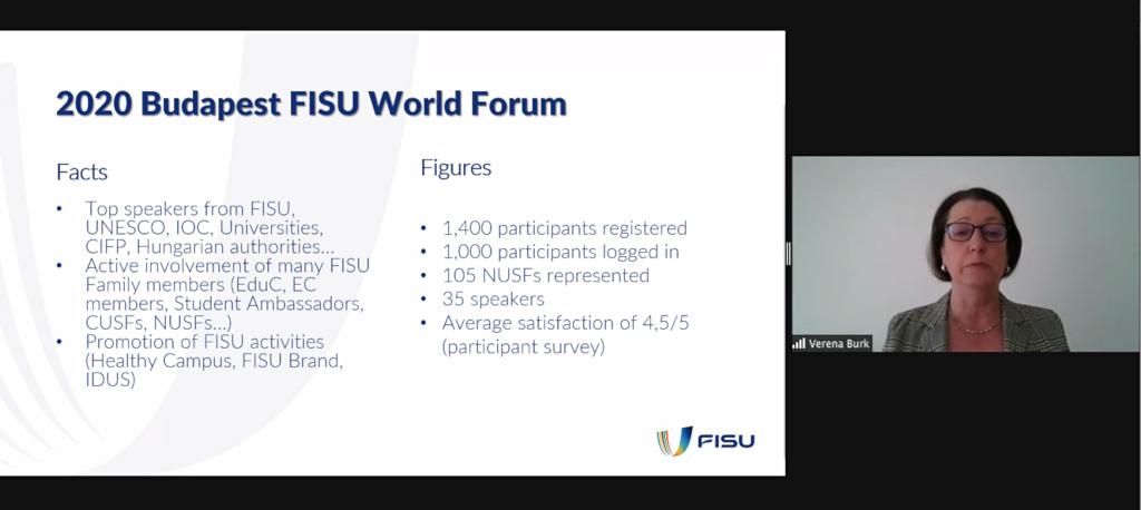 Report on the FISU World Forum Budapest 2020