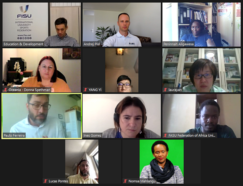 Online meeting with the International and Continental University Sport Federations