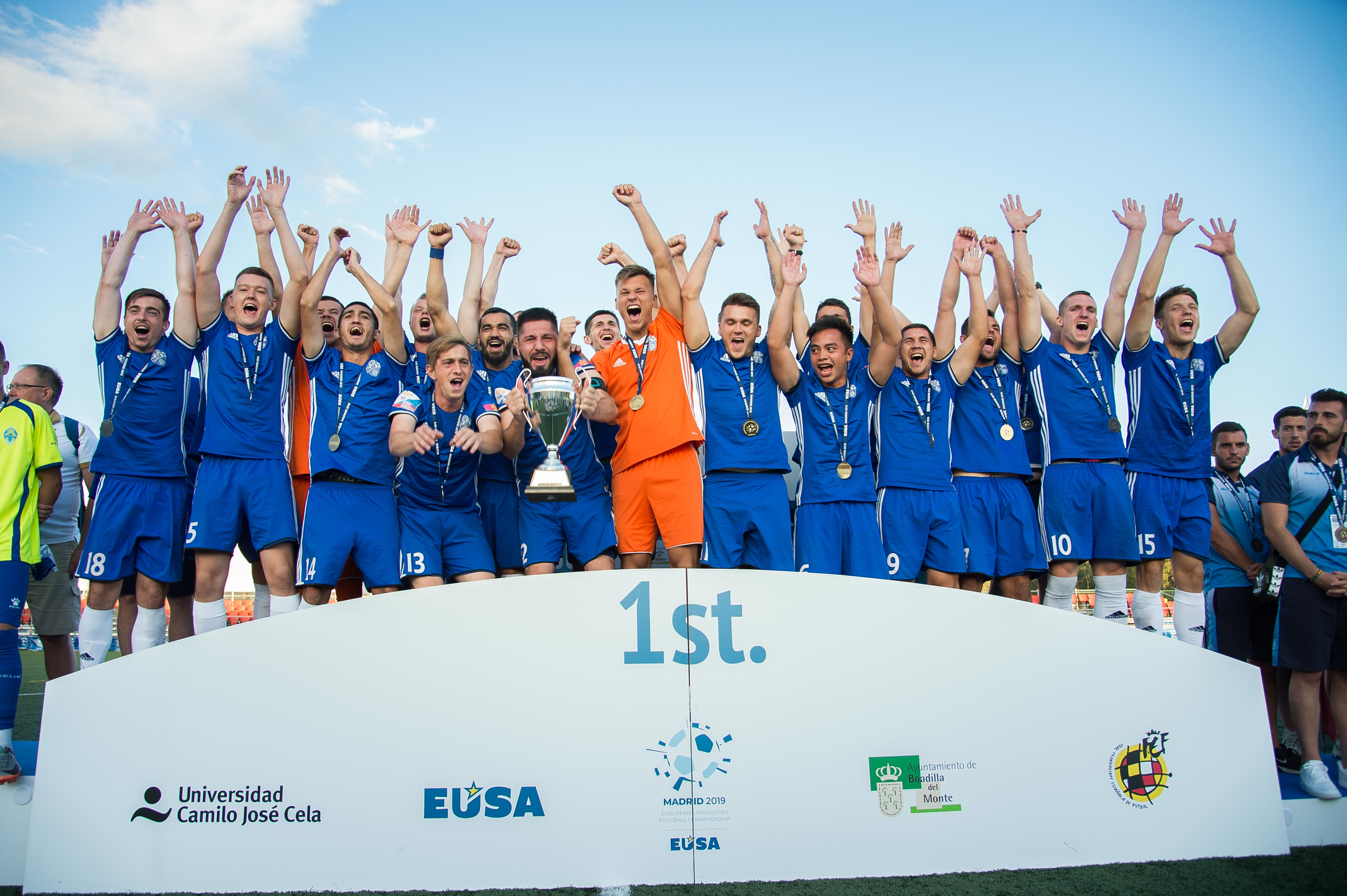 EUC 2019 Football men's winners