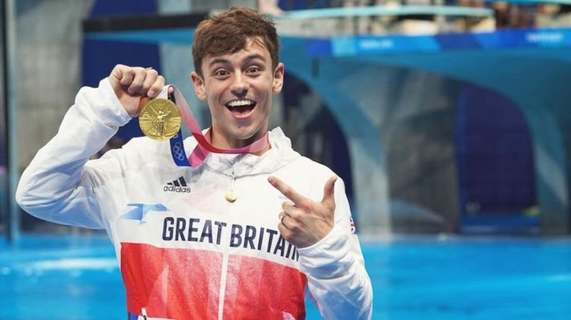 Tom Daley, one of open out Olympians