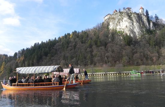 Boat trip to the Bled island