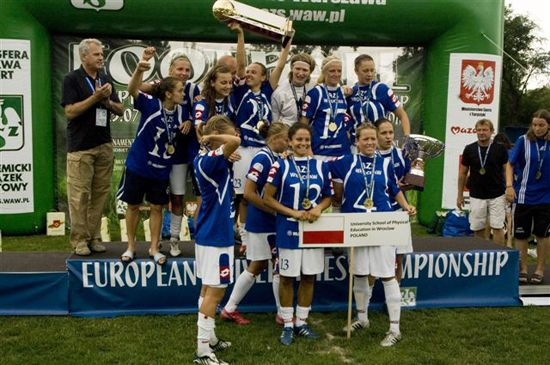 Champions - women: University School of Physical Education in Wroclaw