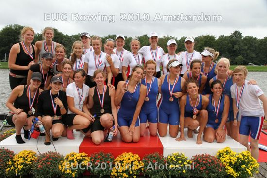 Women eights medallists
