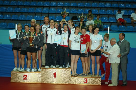 Women teams medallists