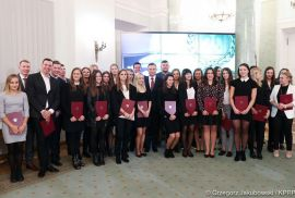 Polish President meets best university athletes